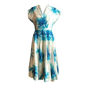 Anthropologie Maple Some Odd Rubies Dress Floral